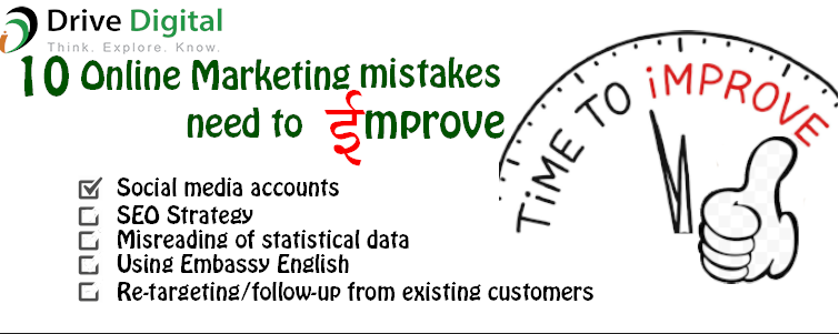 online marketing mistakes you need to improve
