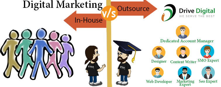 inhouse v/s outsource digital marketing, we are the best digital marketing company
