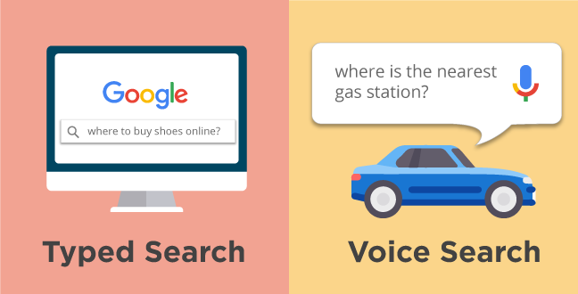 difference between typed search and voice search