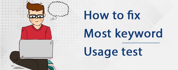 most keyword usage