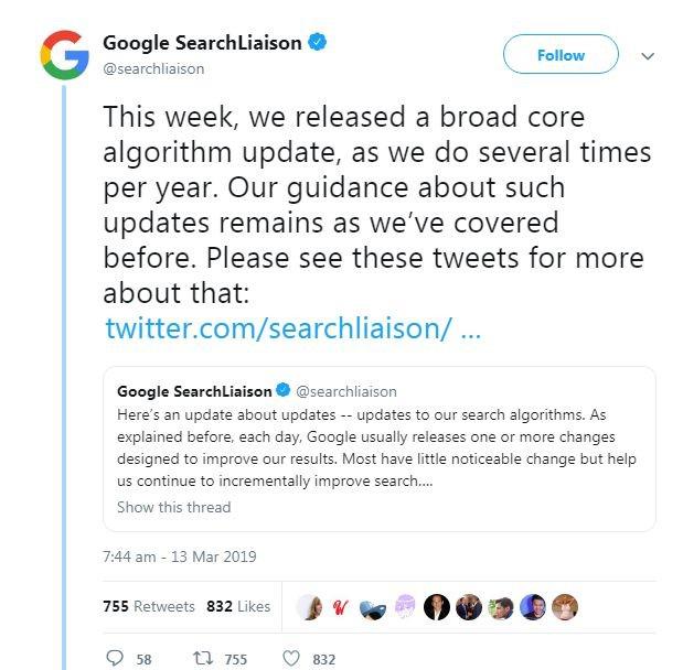 google march core update