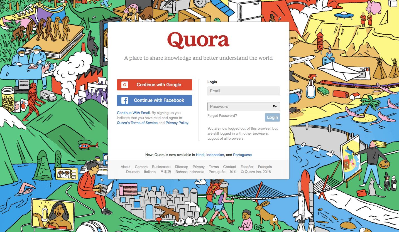 quora login