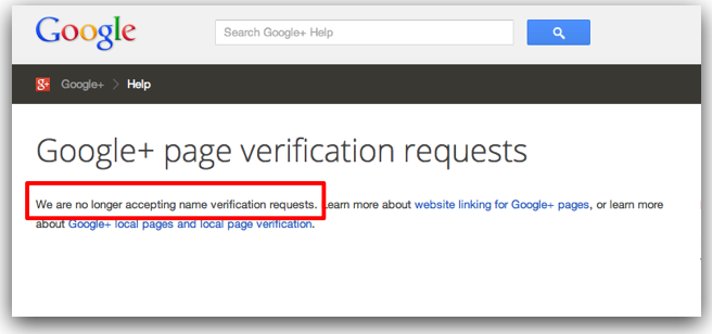 google-plus-page-verification-request-form