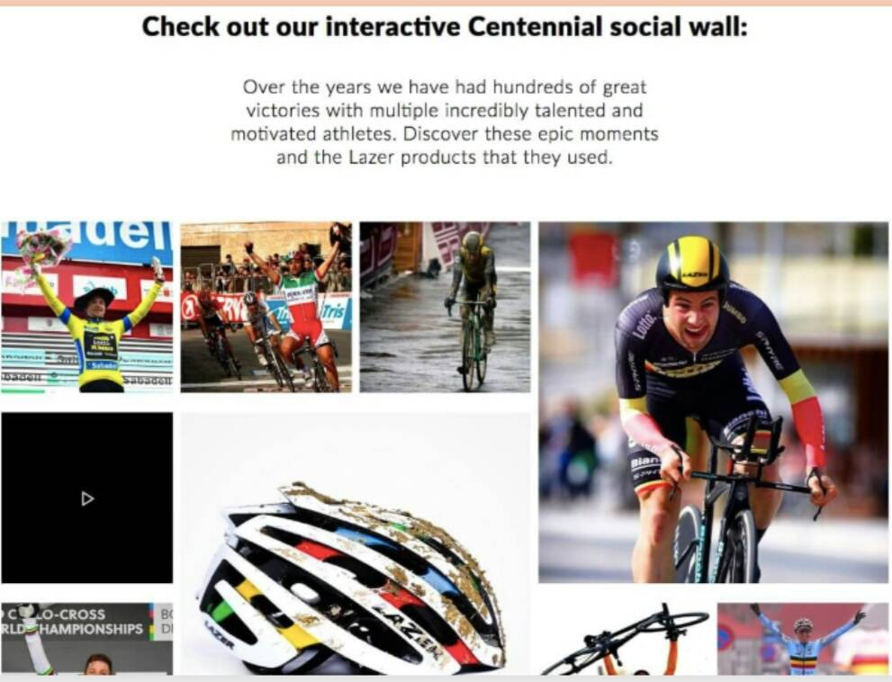 User-generated content for Lazer Sports