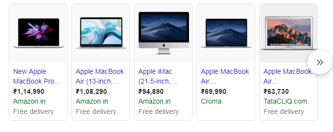 Shopping Results Google SERP Features