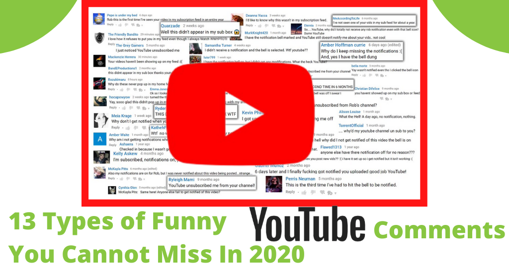 13 Types of Funny YouTube Comments You Cannot Miss In 2020